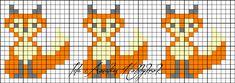 Ida Amalies Hobbykrok: The Fox Knitting Charts, Knitting Socks, Knitting Stitches, Baby Knitting, Knitted Hats, Knitting Patterns, Cross Stitch Borders, Cross Stitching, Cross Stitch Embroidery