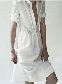 simple linen dress, looks great for summer. Looks Street Style, Looks Style, My Style, Fashion Moda, Look Fashion, Womens Fashion, Style Simple, Linen Shirt Dress, Look Plus