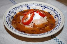 Palócprovence: Barkó bableves Goulash, Bean Soup, Thai Red Curry, Stew, Chili, Beans, Cooking, Ethnic Recipes, Cook Books