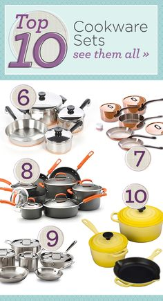 From popular stainless steel to timeless copper, get cooking with one of our favorite cookware sets.