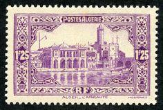"Algeria  1936 Scott 97 1.25fr light violet  ""Admiralty Building, Algiers"""