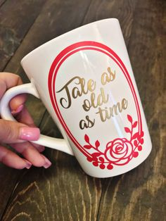 Tale as old as time ceramic mug. Orders yours today at Boardman Printing Disney Coffee Mugs, My Coffee, Coffee Cups, Tea Cups, Coffee Time, Disney Magic, Disney Cups, Tale As Old As Time, Disney Home