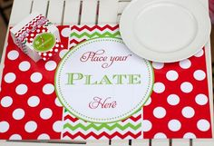 Adorable kids place setting (printable place mat) #holidayentertaining