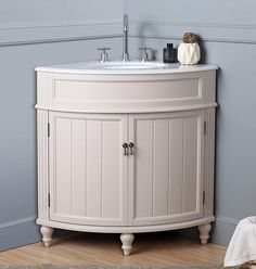 Shop for Benton Collection Thomasville Taupe Corner Bathroom Sink Vanity. Get free delivery On EVERYTHING* Overstock - Your Online Furniture Outlet Store! Get in rewards with Club O! Corner Bathroom Vanity, Small Bathroom, Bathroom Vanities, Bathroom Stuff, Bathroom Ideas, Bathroom Cabinets, Cosy Bathroom, Colorful Bathroom, Bathroom Marble
