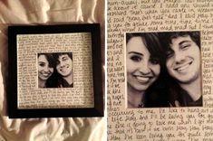 Carta de amor con foto para regalar a novio en cumpleanos