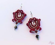 Soutache earrings with Preciosa crystals -Reje creations- SHOP: https://www.etsy.com/it/shop/Rejesoutache?ref=hdr_shop_menu  Facebook: https://www.facebook.com/rejegioielliinsoutache/
