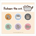 """Pusheen six button set. 10 dollars for six 1"""" buttons of Pusheen in all your favorite pictures! Love!!! :) <3"""