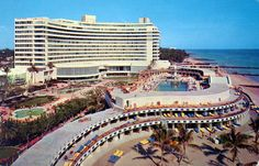 The Fontainebleau, Miami Beach, Florida Circa 1971