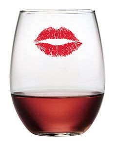 """""""Kiss"""" Set of 4 Stemless Glasses Glam Girl, Stemless Wine Glasses, Boutique, Fashion Books, Wine Cellar, Alcoholic Drinks, Kiss, Tableware, Floral"""