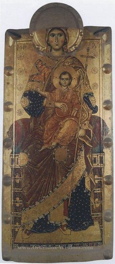 Virgin on the throne with Flumine, Museum of Naples