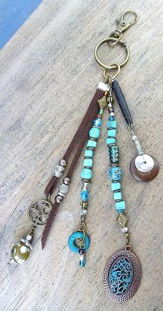 13# PORTE-CLÉ de charme, gri-gri, parure de sac à main. Decoration key chain