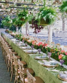 Perfectly elegant and chic table setting