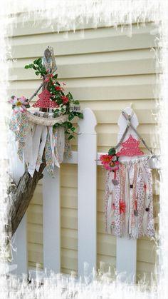 Dreamcatcher, wall hanging, pink, doily, driftwood, natural, doily, jazzie menagerie  https://flic.kr/ps/2khv68 | Jazzie Menagerie's photostream