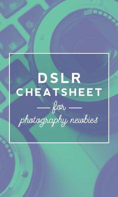 DSLR Cheatsheet for Beginners  Creative Market blog  www.creativemarket.com