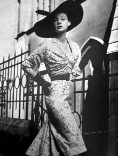 Fashion for Vogue Paris, 1952.