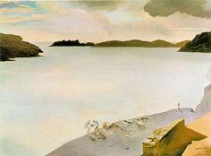 Landscape of Port Lligat, 1950 - Salvador Dali