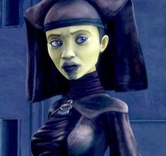 Luminara Unduli was a female Mirialan who served as a Jedi Master and Jedi General in the fading years of the Galactic Republic. She was a valued adviser to the Jedi High Council, the Supreme Chancellor, and the Galactic Senate. During the Clone Wars, she fought with her last Padawan, Barriss Offee, and she was a common and formidable presence at points of crisis, on worlds such as Ilum, Nadiem, and Geonosis. She was killed during the Battle of Kashyyyk when Contingency Order 66 was enacted.
