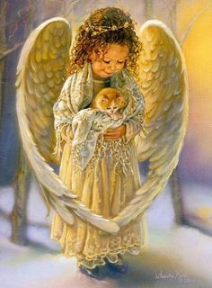 Cute angel! #Inspirational #screen savers at www.fabuloussavers.com/inspirationalscreensavers2.shtml Thank you for viewing!