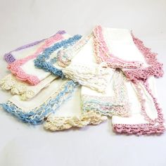 Vintage Lace Trimmed Linen Napkins  I have a bunch, my Grams, her mother, my honorary mother were crazy polific crocheters.
