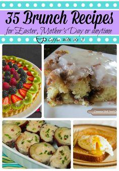 Brunch Recipes for Easter Mother's Day #brunch #mothersday #breakfast