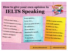 Useful expressions to give your point of view in IELTS Writing and Speaking - In my opinion/ In my view/ From my point of view. English Talk, Learn English Speaking, English Exam, Learn English Grammar, Learn English Words, English Study, English Lessons, English Vocabulary, Teaching English
