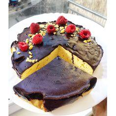 Vaníliás fehérje torta csokimázzal.#fitness #protein #proteincake