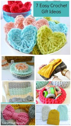 Need a quick and easy crochet gift idea? You will love these easy crochet patterns because they're a great way to share a little handmade goodness without learning hard stitches. Who needs a difficult stitch when simple stitches look this cute? Beginner Crochet Projects, Crochet Patterns For Beginners, Sewing For Beginners, Crochet Ideas, Crochet Patterns Free Easy Quick, Crochet Kits, Crochet Faces, Knit Crochet, Crochet Mask