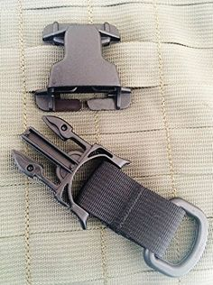 Black 2 Part Set Every Which Way Buckle with Male Buckle D Ring Military Tactical T-ring Adaptor for Molle Pals Tring Pantel Tactical http://www.amazon.com/dp/B00UCDY24A/ref=cm_sw_r_pi_dp_lhNdvb060KQW9