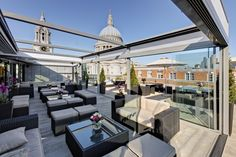 The Skybar in the Grange St. Paul's Hotel, London.