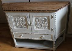 "Upcycled cabinet with Annie Sloan ""old white"""