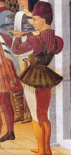 Atri (Te), Cathedral of Santa Maria Assunta, apse fresco work of Andrea De Litio, Annunciation