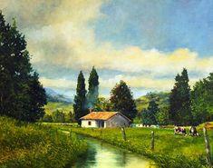 paisajes-campesinos-colombianos-cuadros-al-oleo.jpg (1587×1247)