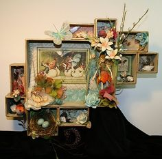 """Made from Tim Holtz Configuration boxes - not the typical """"grungy"""" loo-Following The Paper Trail"""
