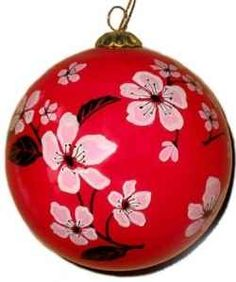 hand painted japanese christmas tree ornaments are stunning works of art these ornate and intricately - Japanese Christmas Decorations