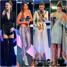 #GigiHadid  #iheartradio Much music video awards Outfits#boots #casual #fashionista #black #spring #summer #dress #queen #legsfordays #fashion #blogger #croptop #omg #love #monochrome #heels #angel #vs #victoriassecret #model #adidas #stansmith #superstar #supermodel #beauty #makeup... - Celebrity Fashion