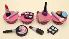 Makeup Cupcakes/Cake Toppers - How To Make by CakesStepbyStep