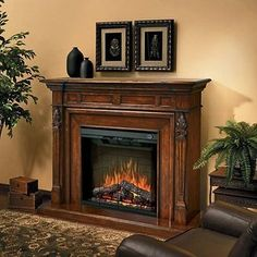 Dimplex Torchiere Electric Fireplace - THIS IS THE ONE!!!!
