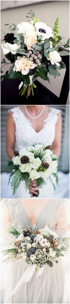 winter wedding bouquet ideas