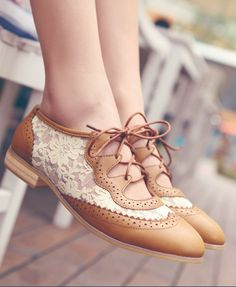 Lace Brogues - cute!