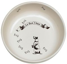 ORE Pet Vintage Parisian Bowl - Le Bon Chien ** To view further for this item, visit the image link. (This is an Amazon affiliate link)