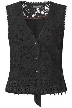 Morning Glow | Fall collection | Gilet | Black | Lace