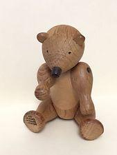 Kay Bojesen Teddy Bear - Danish Modern Wooden Toy Stamped On Foot