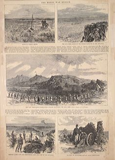 """""""The Modoc War Region."""" [five small scenes of Captain Jacks Stronghold]. June 14, 1873."""