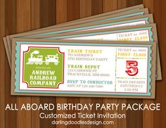 All Aboard Customized Invitation