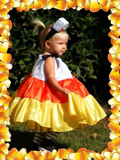 ADORABLE CANDY CORN COSTUME!