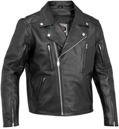 River Road Iron Clad Classic Street Riding Leather Motorcycle Jacket