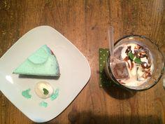Mint chocolate tart & mint cocoa