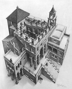 M.C. Escher - Ascending and Descending