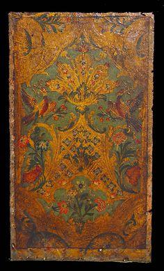 Antique embossed leather panels, cuire de Cordobe.
