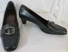 """""""NATURALIZER"""" BERNSEN BROWN LEATHER PUMPS SHOES - PLEASE SEE ALL PICTURES #Naturalizer #PumpsClassics"""